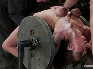 Princess Donna Dolore gets bound, tormented and fucked in BDSM clip
