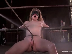 White and Black chicks get bounded and fucked at a ranch
