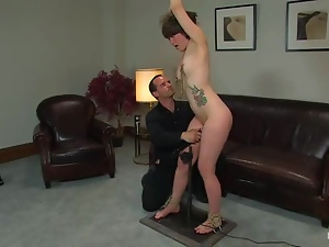Petite Claudia LeNoir gets her titties tortured with claws