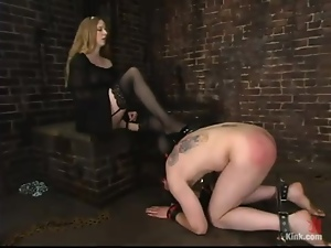 Neil gets pinched with claws and spanked by Princess Kali