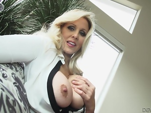Astonishing compilation of busty milfs fingering their meaty pussies