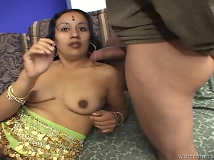 Horny Indian girl gets fucked by two men