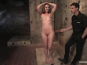 Maestro pleases Sarah Shevon with spanking in a basement