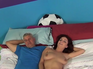 Skinny Ashley Graham gets fucked in a missionary pose