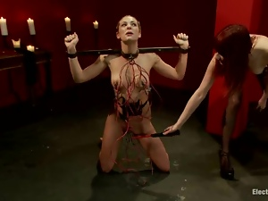 Painful story in the BDSM underground with two cruel persons