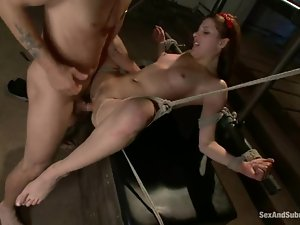 Sweet Evilyn Fierce gets bounded and fucked rough