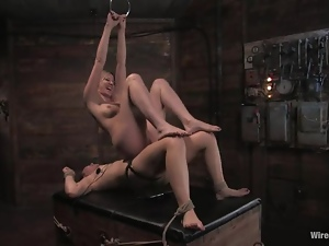 Poor Savannah West gets tied up and toyed in a basement