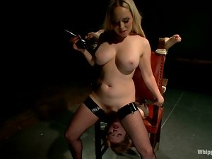 Alani Pi gets whipped and toyed by nasty Aiden Starr