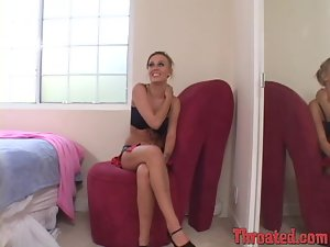 Playful blond siren Holly Wellin is loving to suck it