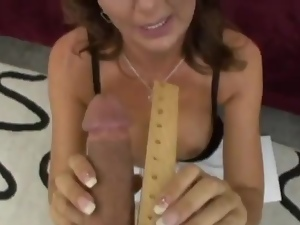 Desi Foxx the big tittied MILF rides big dick in POV video