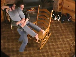 Hot Rhiannon Bray gets bound pinched with claws