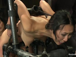 Kinky Asian sex slave is loving such a cruel treatment