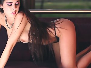 Delicious babe Celeste is making some hot love