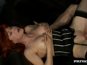 Nina Stein the mature redhead woman gets nailed in a prison