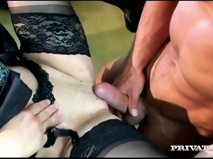 Fucking Slut in Lingerie Judith Fox's Asshole and Pussy