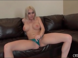 Christy Stevens fondles tits and masturbates