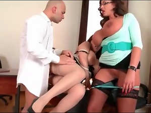 Secretaries with huge tits fucked in office