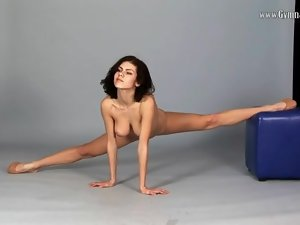 Big tits brunette is wicked flexible