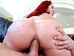 Fucking her big lubed up ass