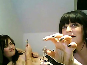 Food fight with webcam girls