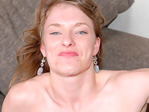 Cute girl gets jizz facial