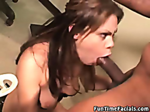 Interracial blowjob video