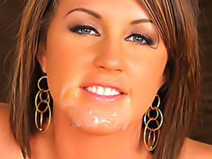 Creamy facial for a slut