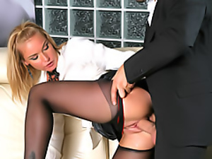 Wicked hot blonde fucked