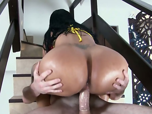 Big Colombian ass gets fucked outdoors. Part 2