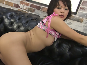 nasty asian bimbo with hairy snatch pussy fondled and filled with sex toy. Part 3