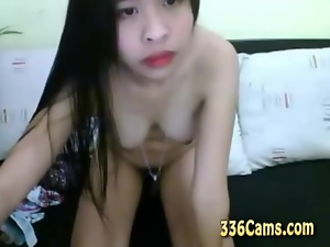 2 hot Asian Girls On Webcam Kissing And 69