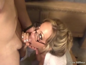 Bad MILF Secretary Gets It Good