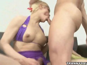 Sexy tranny Mia Rivers fucking a studs tight ass