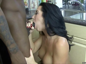 Jayden James shoves this hard dick down her throat