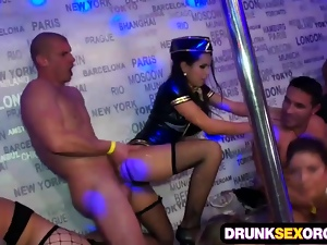 Sluts in costumes drunk at the party