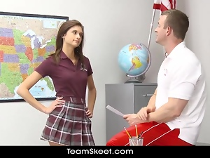 InnocentHigh Smalltits schoolgirl teen rides teachers c