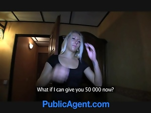 PublicAgent Big nipples Nella gets her tight pussy poun
