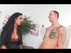 Angelina Valentine gets dicked at her desk