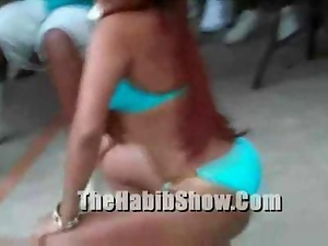Dominican bikini contest at hotel new garden