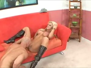 Blonde Bitch in Boots Gets Banged