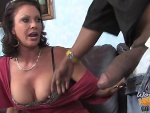 Vanessa Videl blowjob a black cock