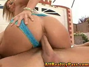 McKenzie Pierce slides panties to side for dick