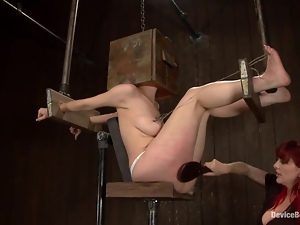 Nerine Mechanique gets choked and toyed hard by Mz Berlin