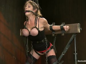 Felony enjoys being tormented by her lesbian GFs in hot BDSM scene