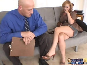 Delightful blond siren Violet Adamson is going to have it