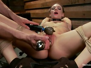 Bailey Blue gets unforgettably mouth-fucked in awesome BDSM clip