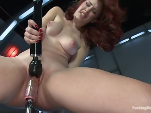 Curly haired redhead loves it huge and thick
