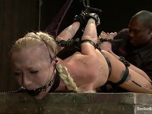 Playful blondie is being punished for being such a bitch
