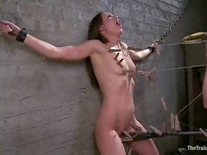 A heavy wooden bar is suppressing Casey Calvert