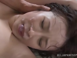 Booty Ayumi Kimino gets balled by a group of fucks